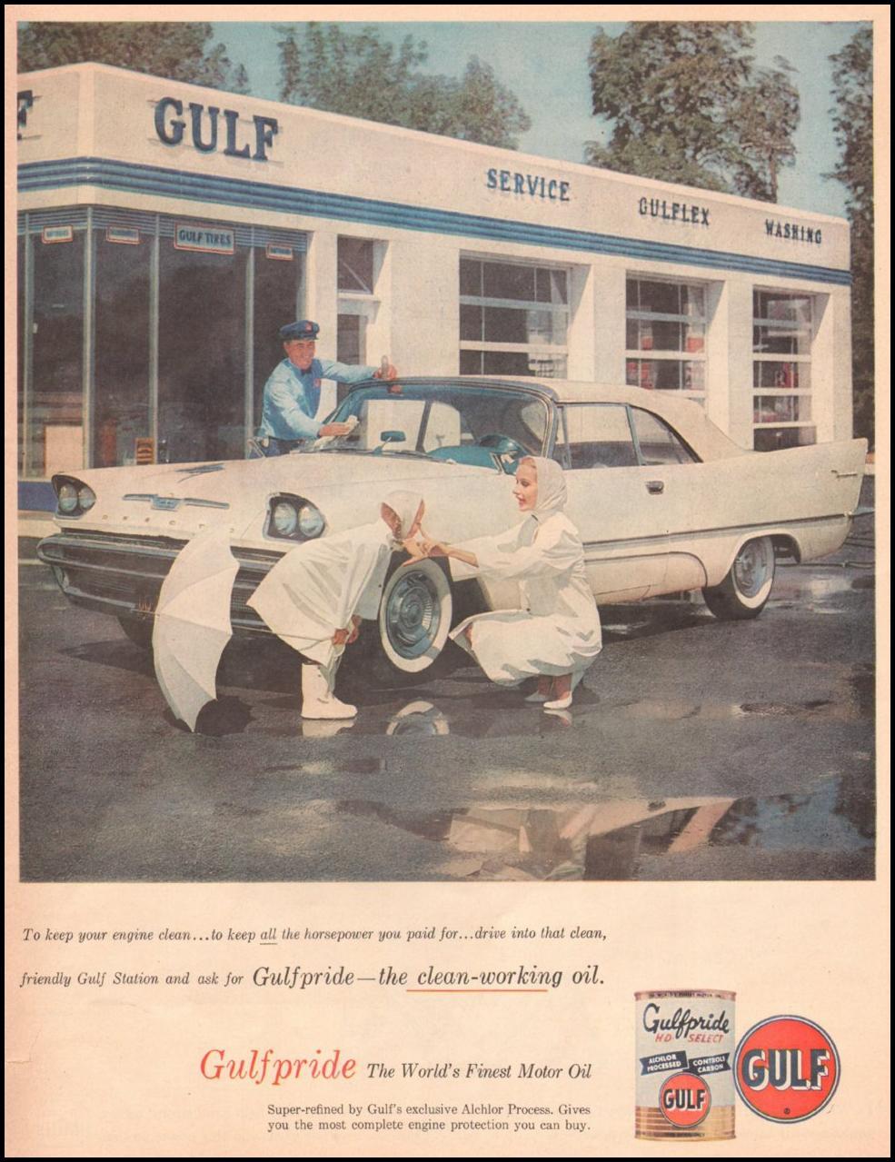 GULFPRIDE MOTOR OIL LOOK 10/29/1957 p. 135