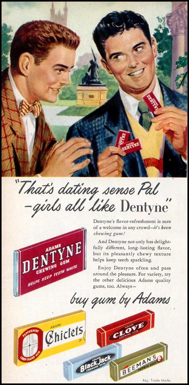 DENTYNE CHEWING GUM WOMAN'S DAY 03/01/1948 p. 62