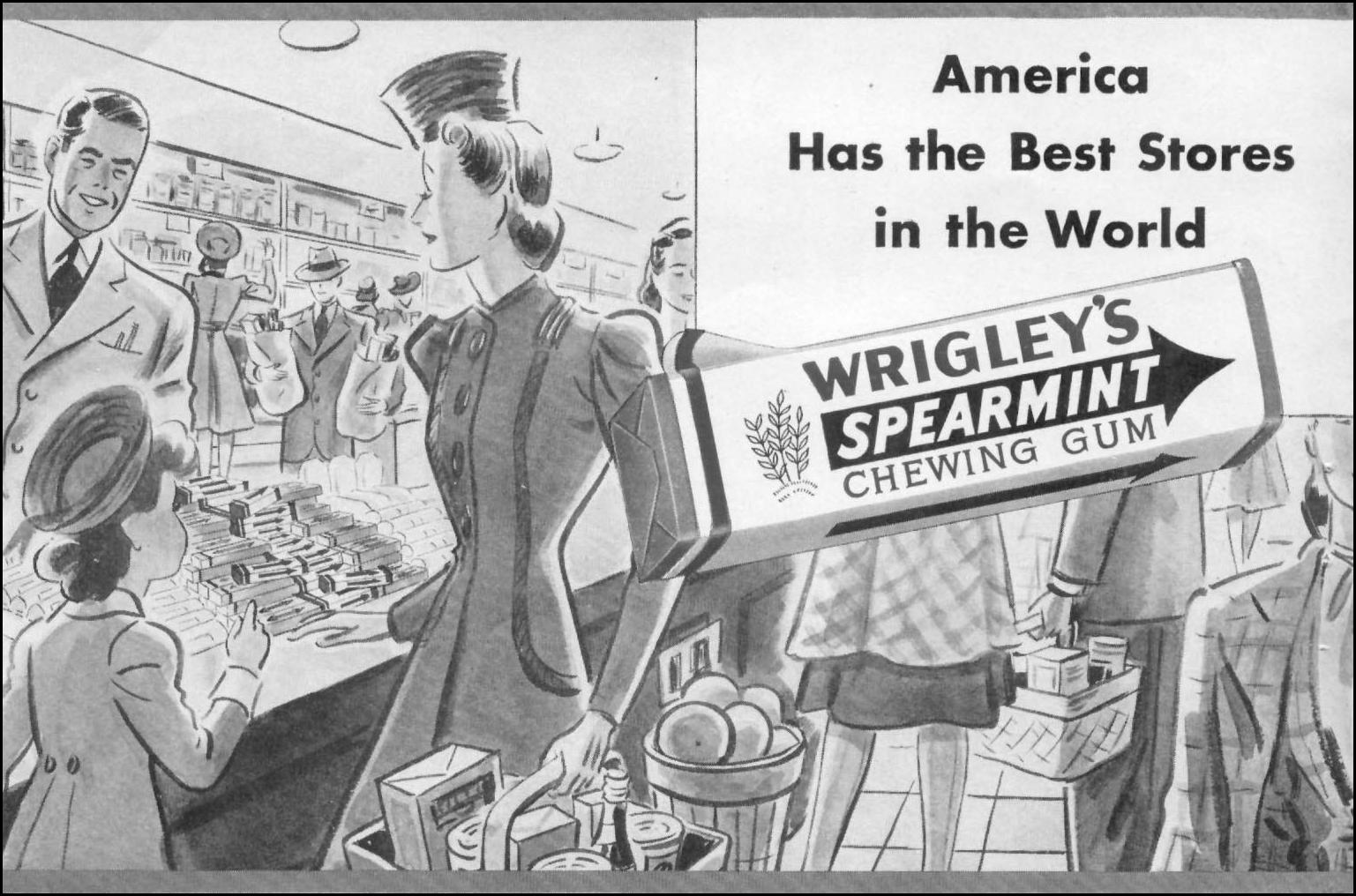 WRIGLEY'S SPEARMINT CHEWING GUM WOMAN'S DAY 05/01/1941 p. 54