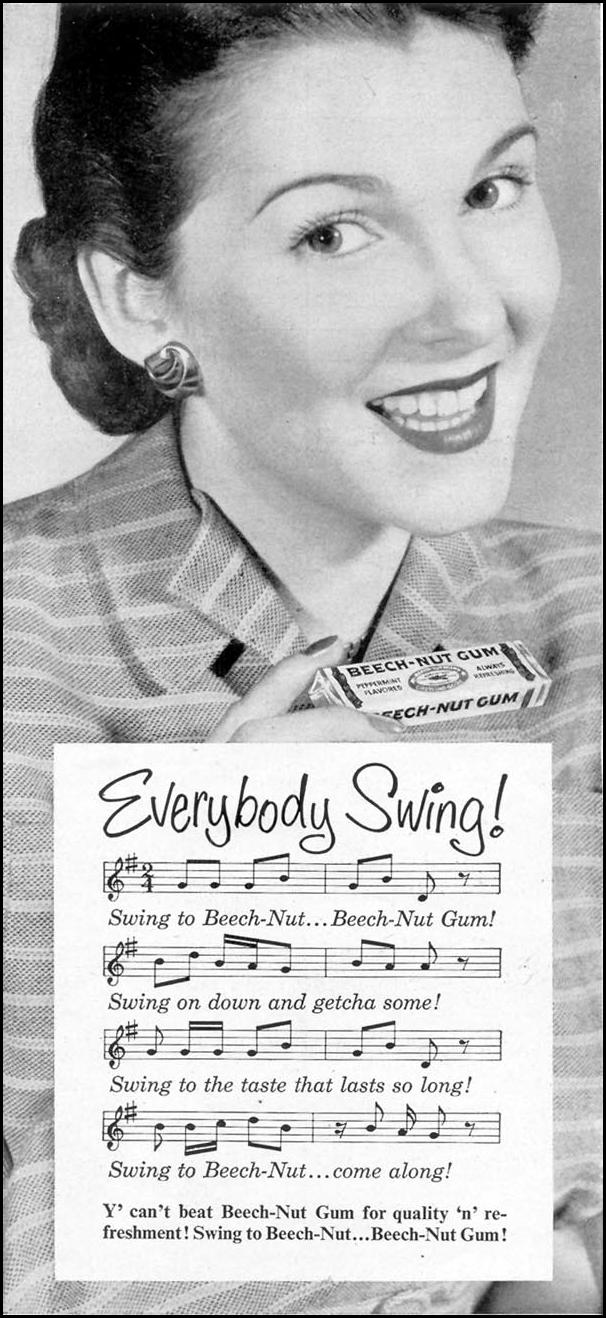 BEECH-NUT CHEWING GUM WOMAN'S DAY 05/01/1950 p. 29