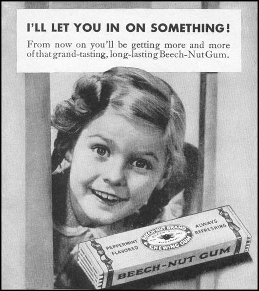 BEECH-NUT CHEWING GUM WOMAN'S DAY 06/01/1946 p. 54