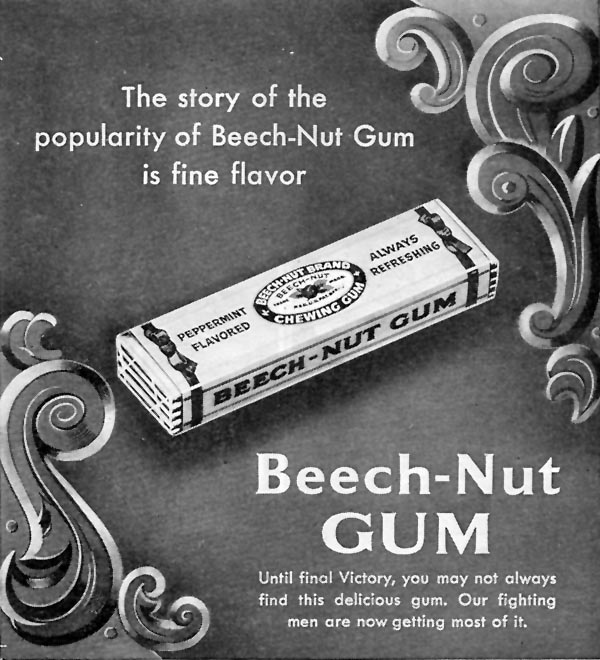 BEECH-NUT CHEWING GUM WOMAN'S DAY 07/01/1945 p. 75