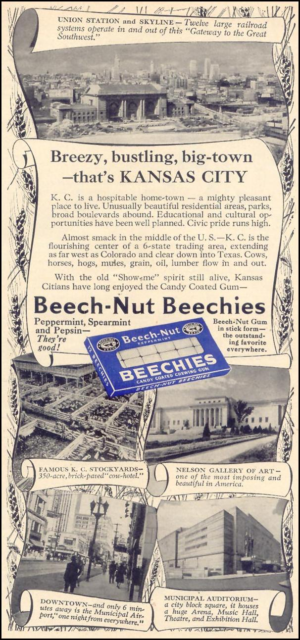 BEECHIES CHEWING GUM WOMAN'S DAY 08/01/1948 p. 95