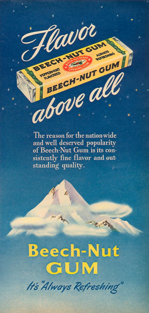 BEECH-NUT CHEWING GUM WOMAN'S DAY 08/01/1949 p. 51