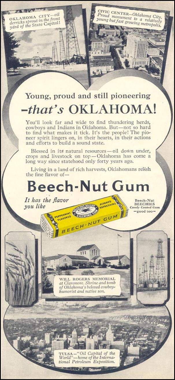 BEECH-NUT CHEWING GUM WOMAN'S DAY 09/01/1948 p. 99
