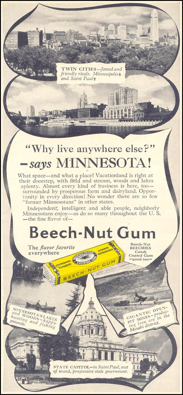 BEECH-NUT CHEWING GUM WOMAN'S DAY 10/01/1948 p. 121