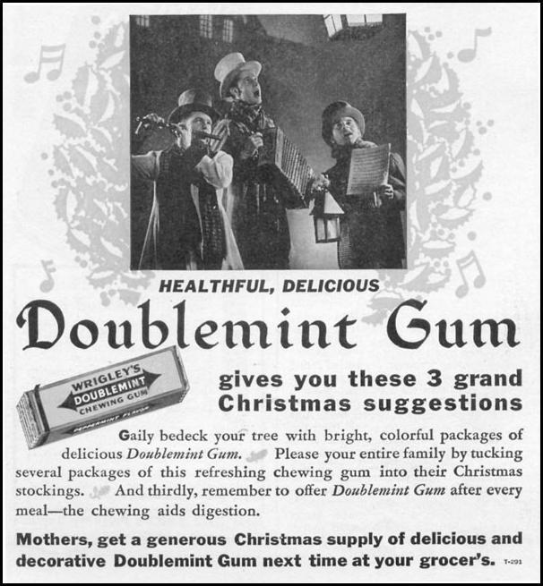 WRIGLEY'S DOUBLEMINT CHEWING GUM WOMAN'S DAY 12/01/1939 p. 42