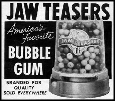 JAW TEASERS BUBBLE GUM LIFE 04/01/1957 p. 134