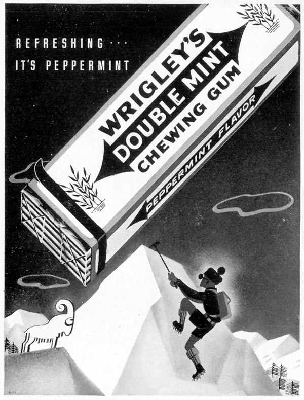WRIGLEY'S DOUBLE MINT CHEWING GUM LIFE 08/09/1937 p. 15