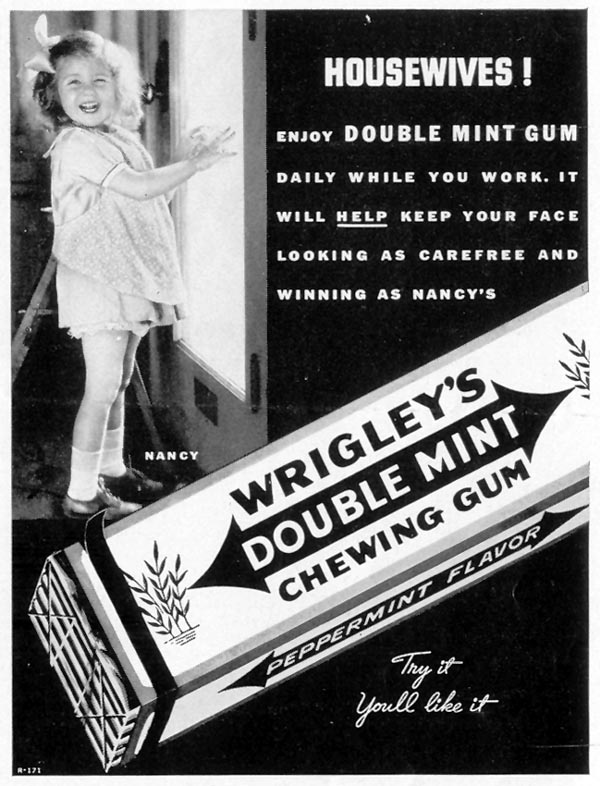 WRIGLEY'S DOUBLE MINT CHEWING GUM LIFE 08/30/1937 p. 19