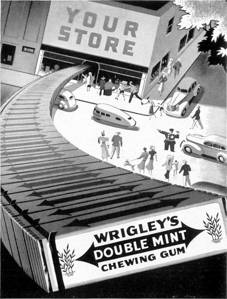 WRIGLEY'S DOUBLE MINT CHEWING GUM LIFE 09/13/1937 p. 21