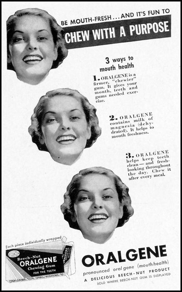 ORALGENE CHEWING GUM LIFE 09/27/1937 p. 106