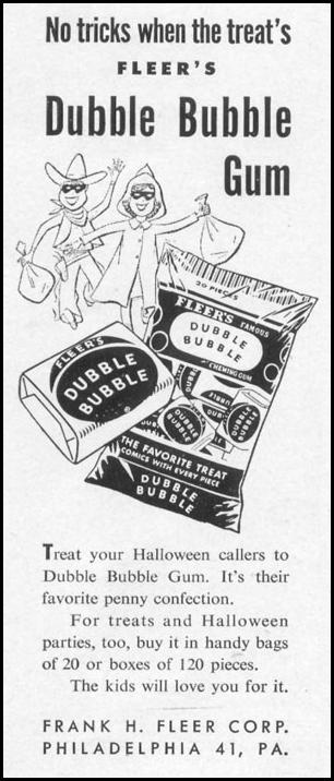 DUBBLE BUBBLE CHEWING GUM LIFE 10/13/1952 p. 100