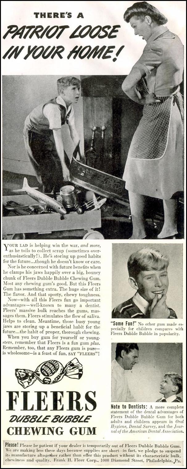 FLEER DUBBLE BUBBLE GUM LIFE 11/30/1942 p. 121