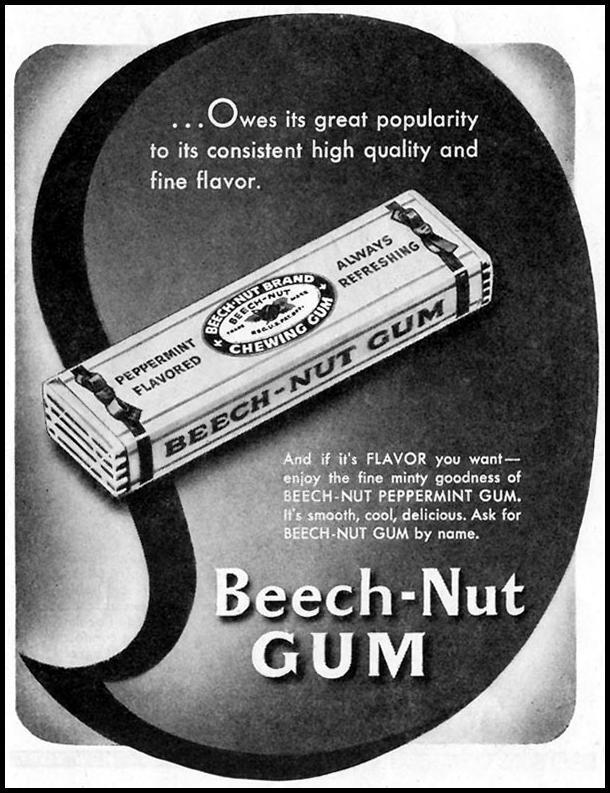 BEECH-NUT CHEWING GUM SATURDAY EVENING POST 10/06/1945 p. 76