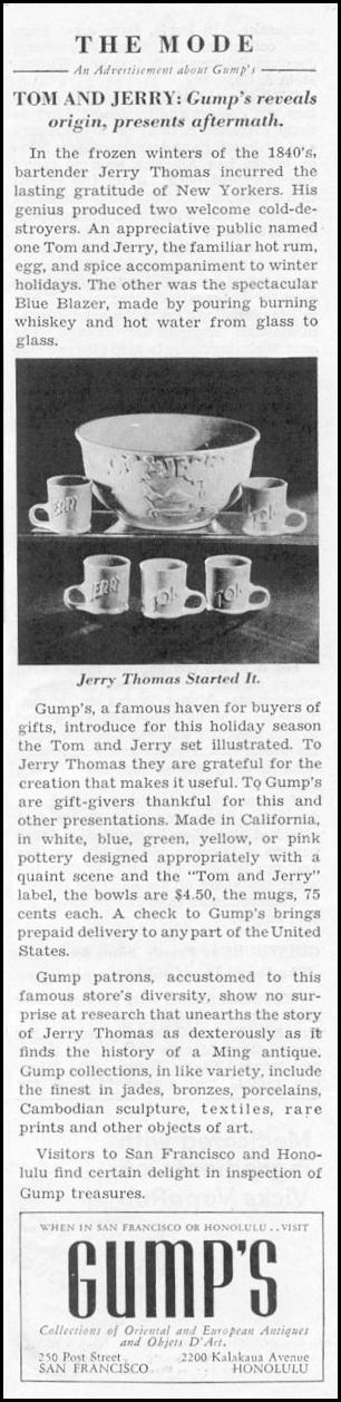 TOM AND JERRY PUNCH BOWL NEWSWEEK 11/09/1935 p. 37