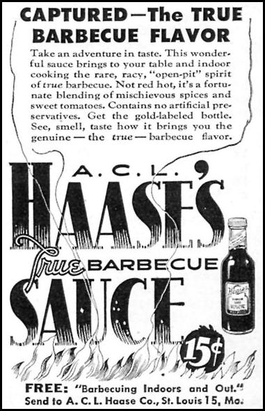 HAASE'S TRUE BARBECUE SAUCE WOMAN'S DAY 11/01/1946 p. 94