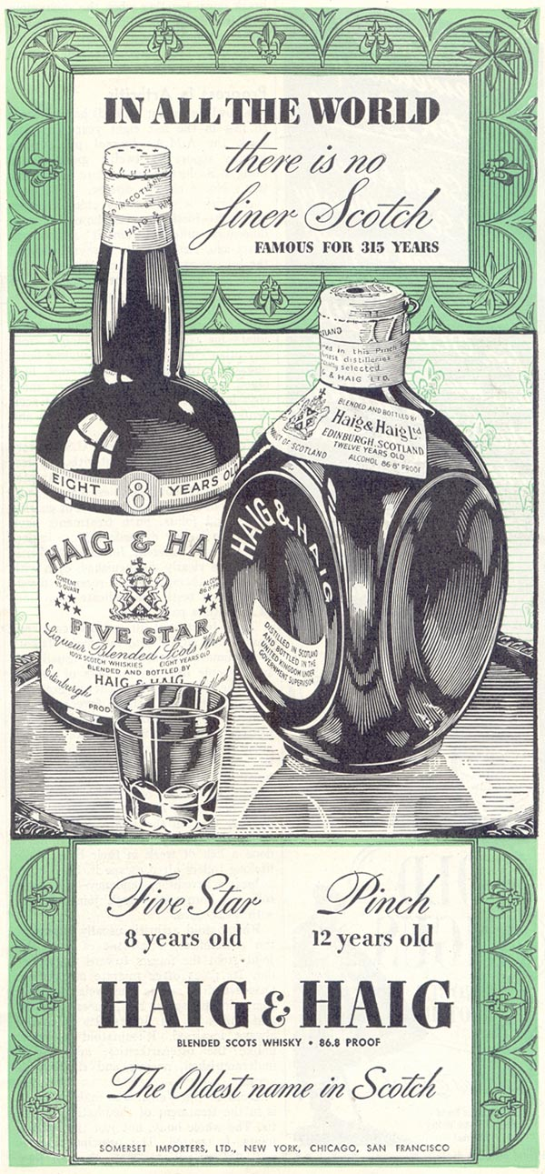 HAIG & HAIG SCOTCH TIME 08/17/1942 p. 59
