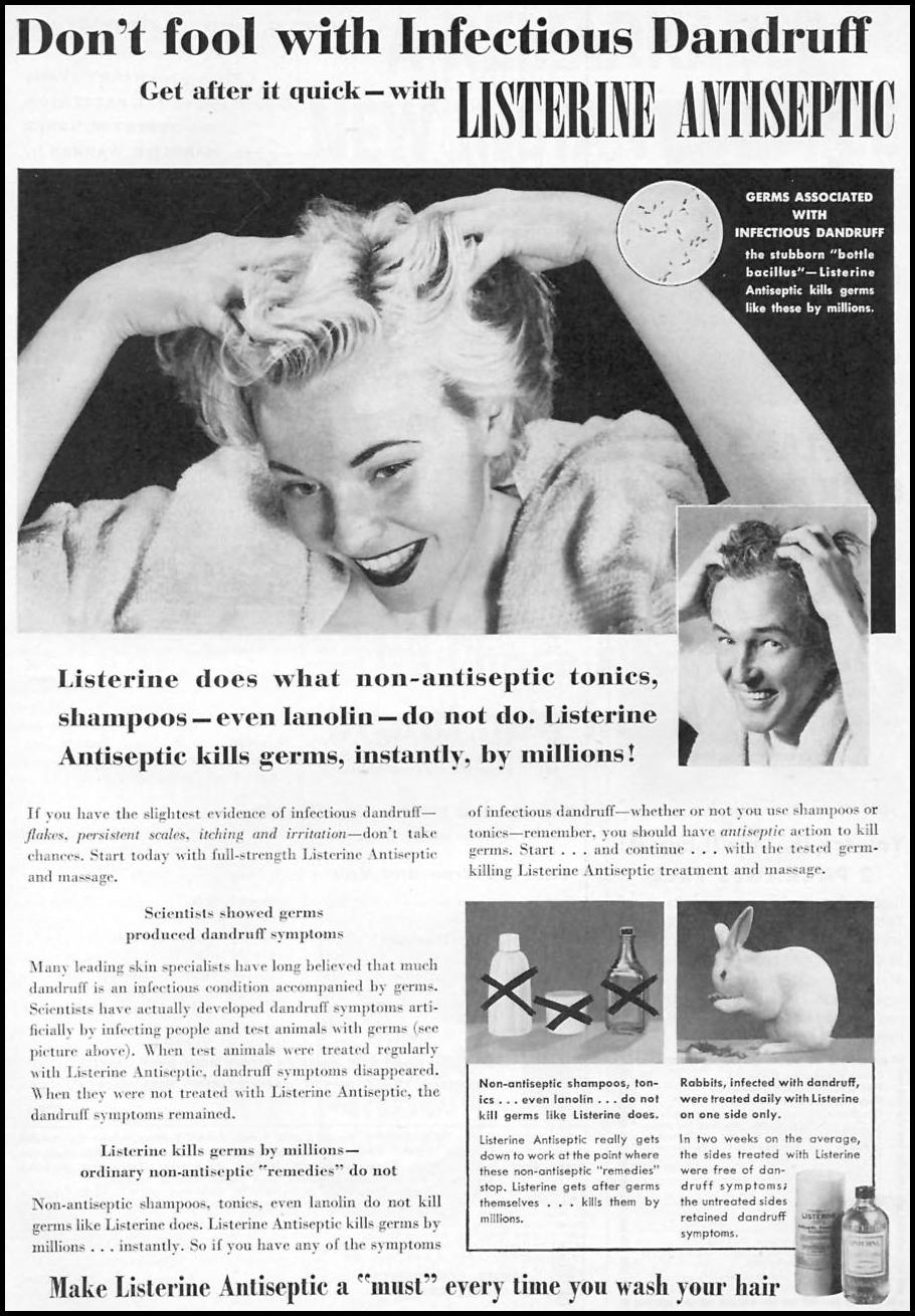 LISTERINE ANTISEPTIC FAMILY CIRCLE 02/01/1956 p. 1