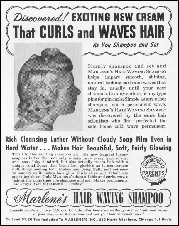MARLENE'S HAIR WAVING SHAMPOO LIFE 01/21/1952 p. 101