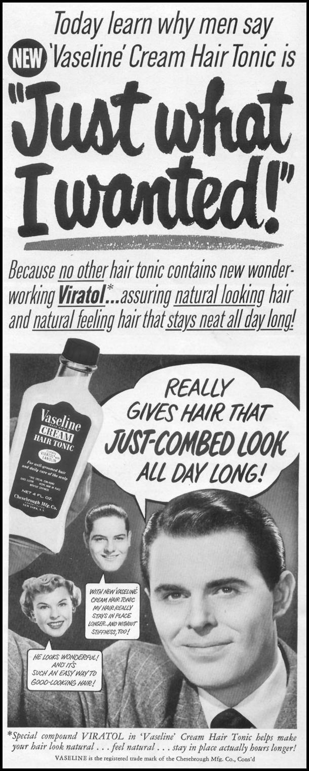 VASELINE HAIR TONIC LIFE 06/05/1950 p. 7