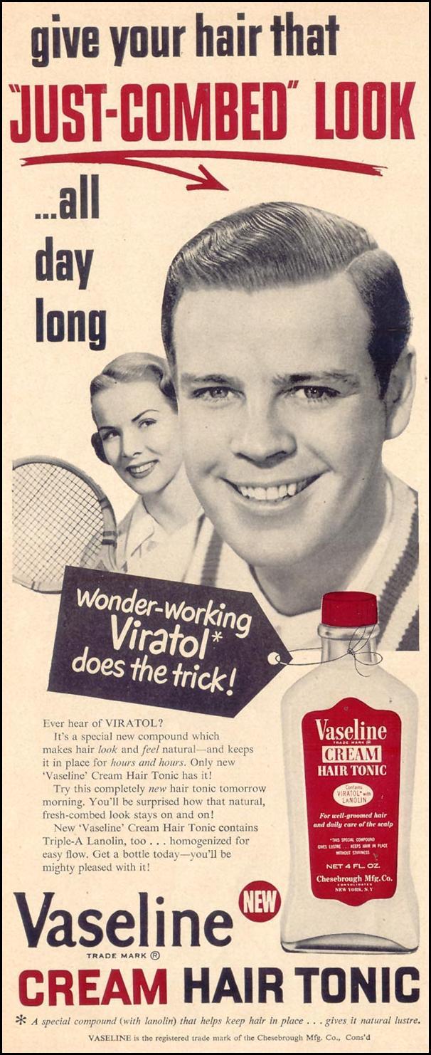 VASELINE HAIR TONIC LIFE 07/30/1951 p. 4