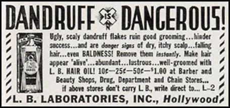 L. B. HAIR OIL LIFE 09/30/1940 p. 97