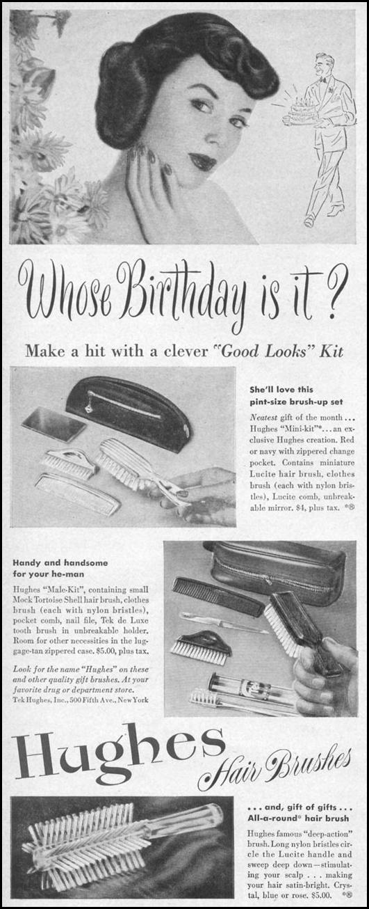 HAIR BRUSHES & GROOMING SETS LIFE 10/11/1948 p. 68