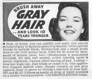 BROWNATONE HAIR COLORING LIFE 11/02/1942 p. 105