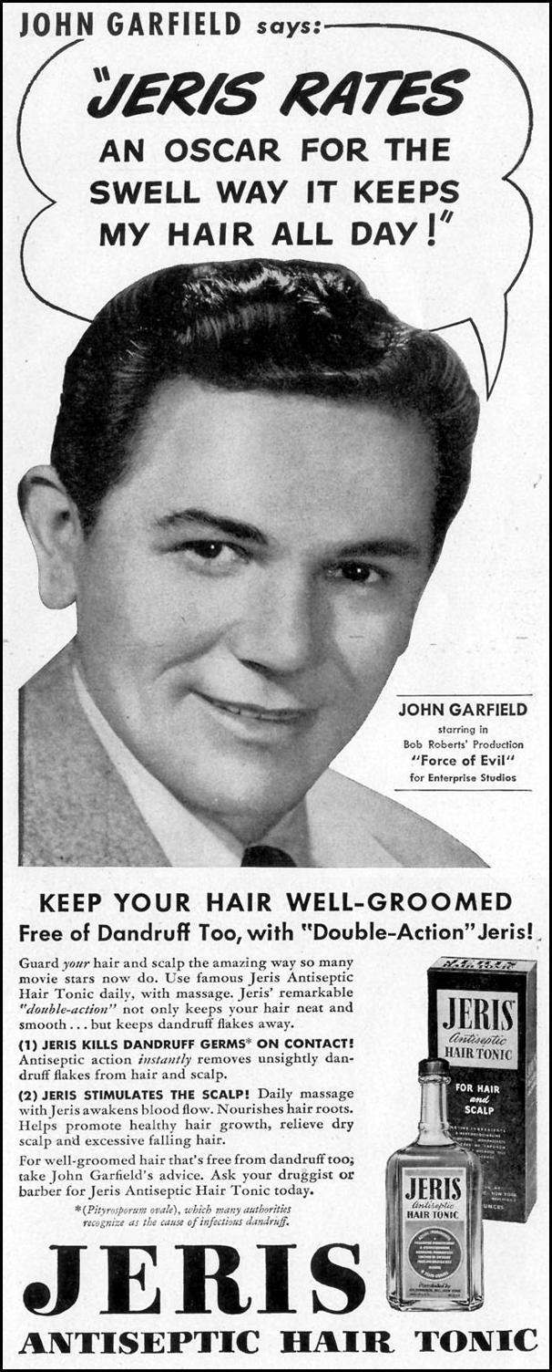 JERIS HAIR TONIC LIFE 11/15/1948 p. 110