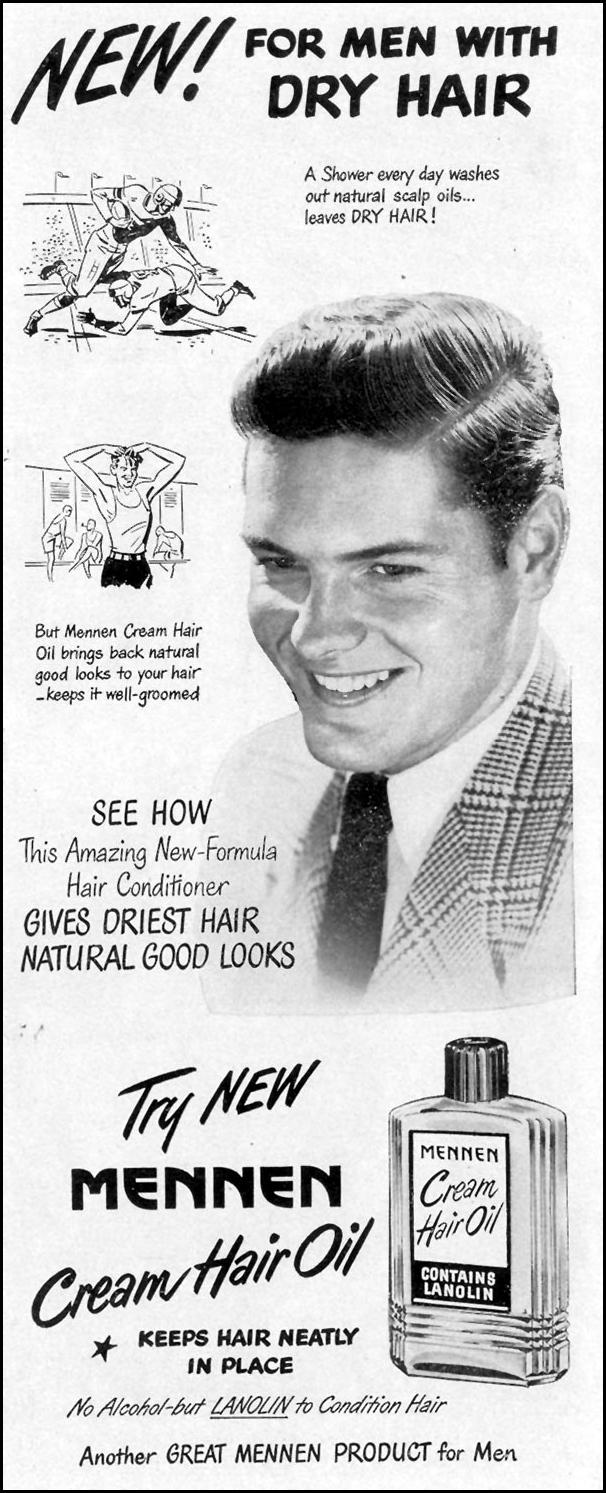 MENNEN CREAM HAIR OIL LIFE 11/15/1948 p. 125