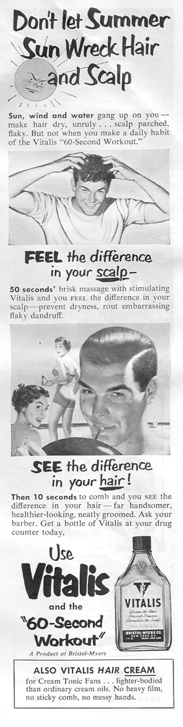 VITALIS HAIR TONIC NEWSWEEK 08/20/1951 p. 83