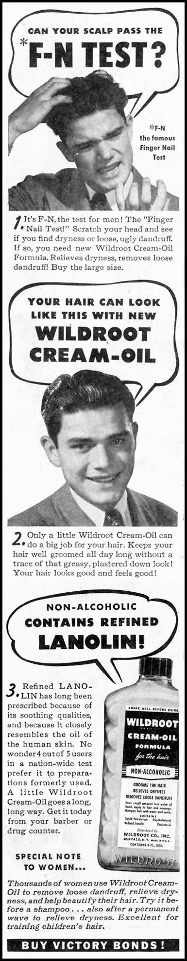 WILDROOT CREAM-OIL SATURDAY EVENING POST 10/06/1945 p. 44