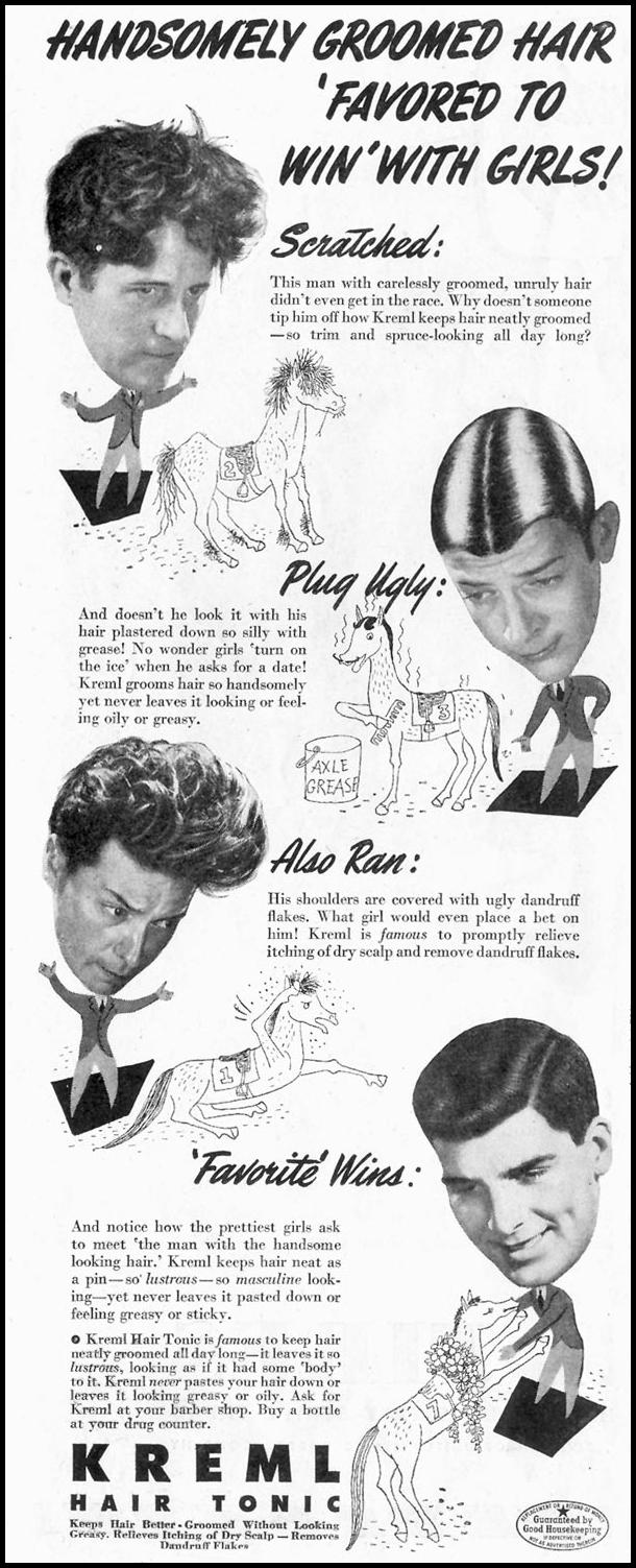 KREML HAIR TONIC SATURDAY EVENING POST 10/06/1945 p. 50