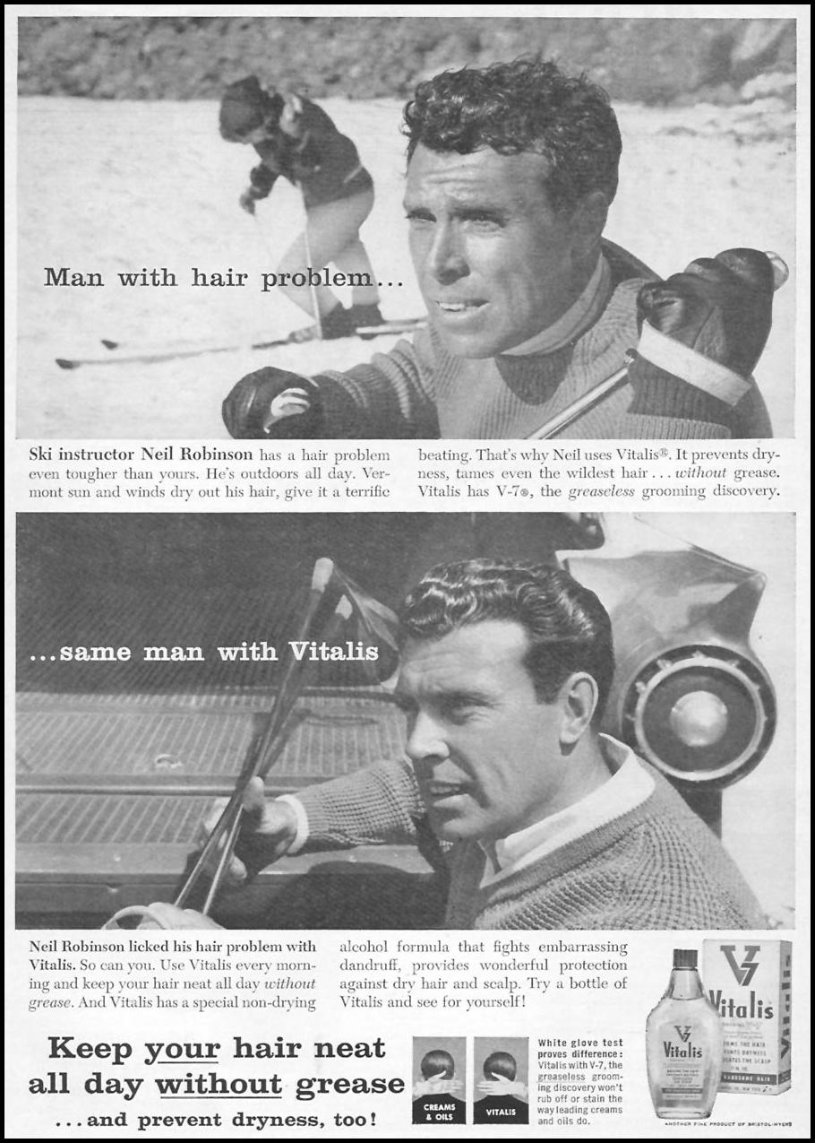 VITALIS HAIR TONIC SPORTS ILLUSTRATED 01/12/1959 p. 1