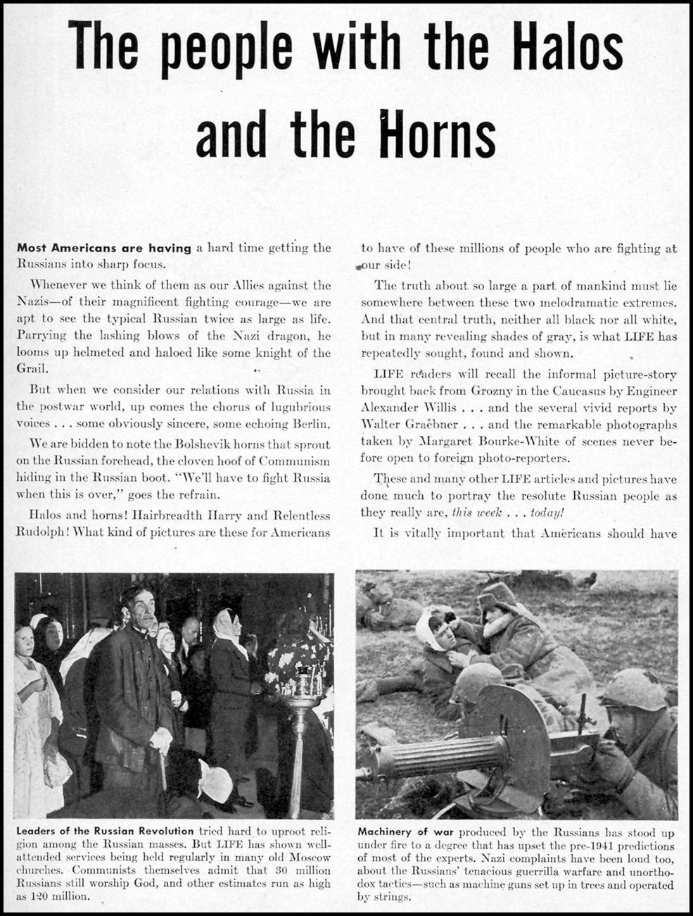 LIFE MAGAZINE TIME 11/20/1942 p. 1