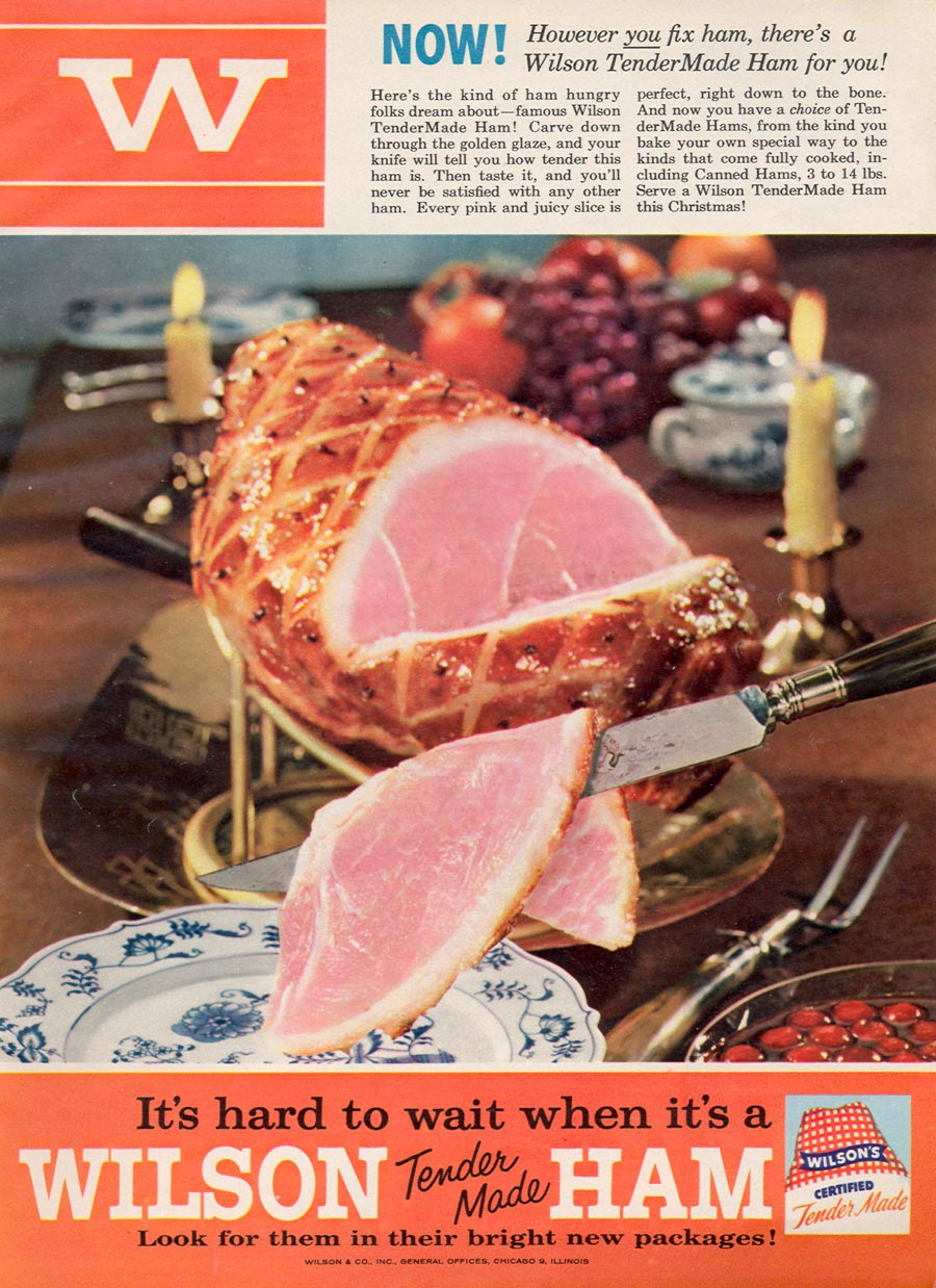 WILSON'S TENDER MADE HAM WOMAN'S DAY 12/01/1954 p. 51