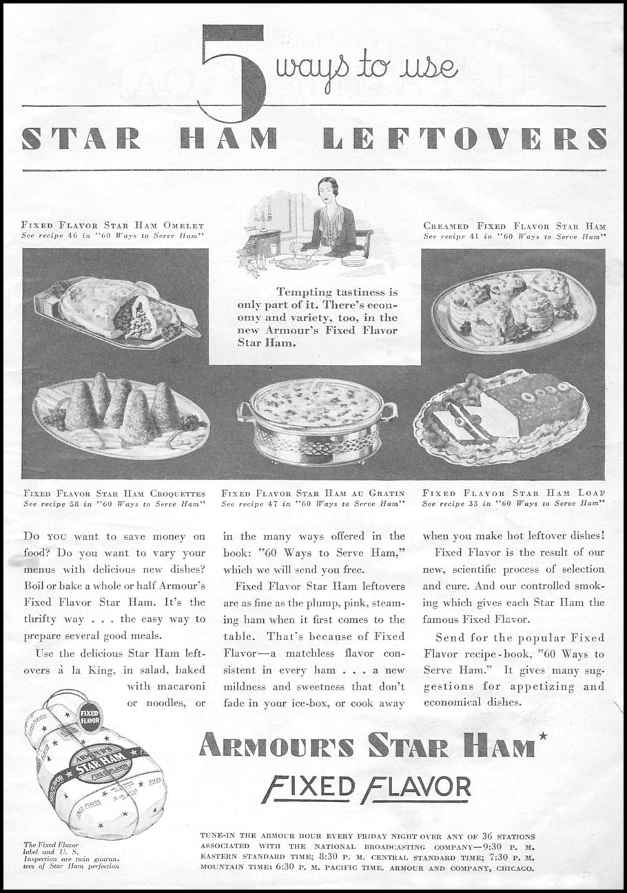 ARMOUR STAR HAM GOOD HOUSEKEEPING 01/01/1932 p. 3