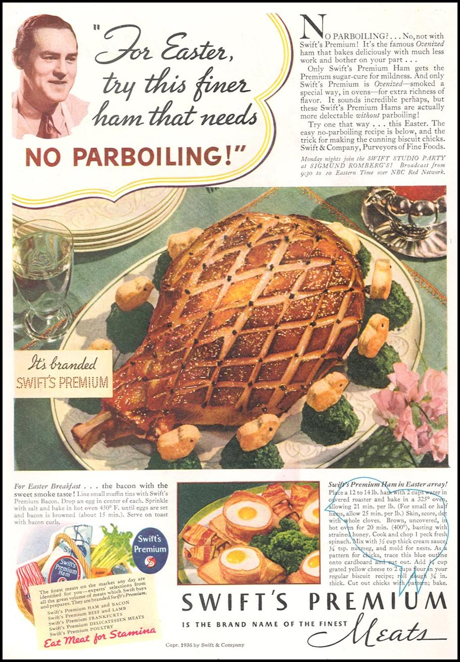 SWIFT'S PREMIUM MEATS GOOD HOUSEKEEPING 04/01/1936 p. 98