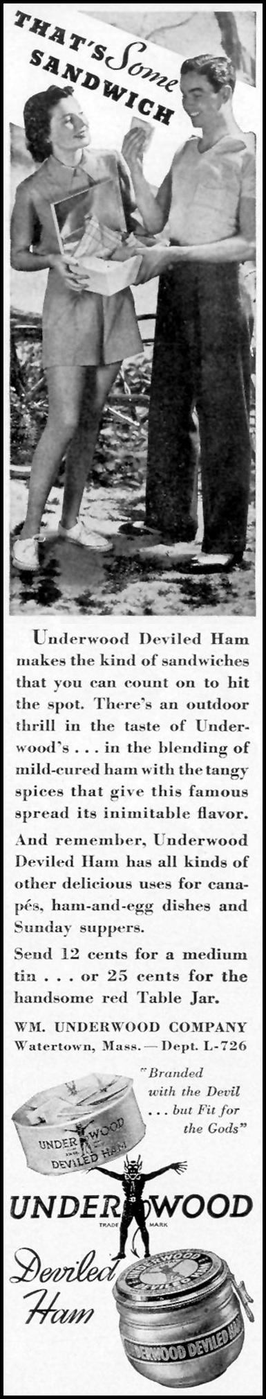 UNDERWOOD DEVILED HAM LIFE 07/26/1937 p. 78