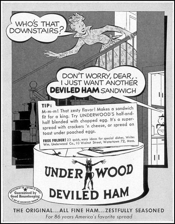 UNDERWOOD DEVILED HAM LIFE 09/07/1953 p. 96
