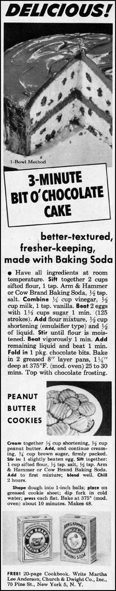 ARM & HAMMER BAKING SODA WOMAN'S HOME COMPANION 12/01/1952 p. 88