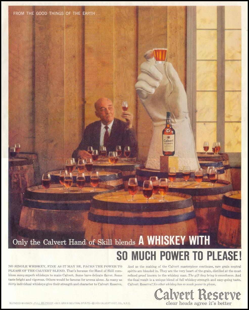 CALVERT RESERVE WHISKEY SATURDAY EVENING POST 05/02/1959 p. 7