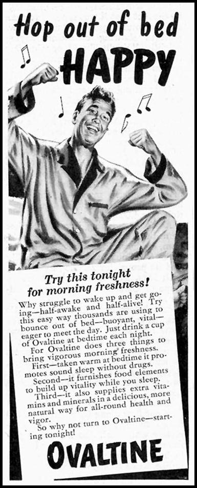 OVALTINE SATURDAY EVENING POST 10/06/1945 p. 53