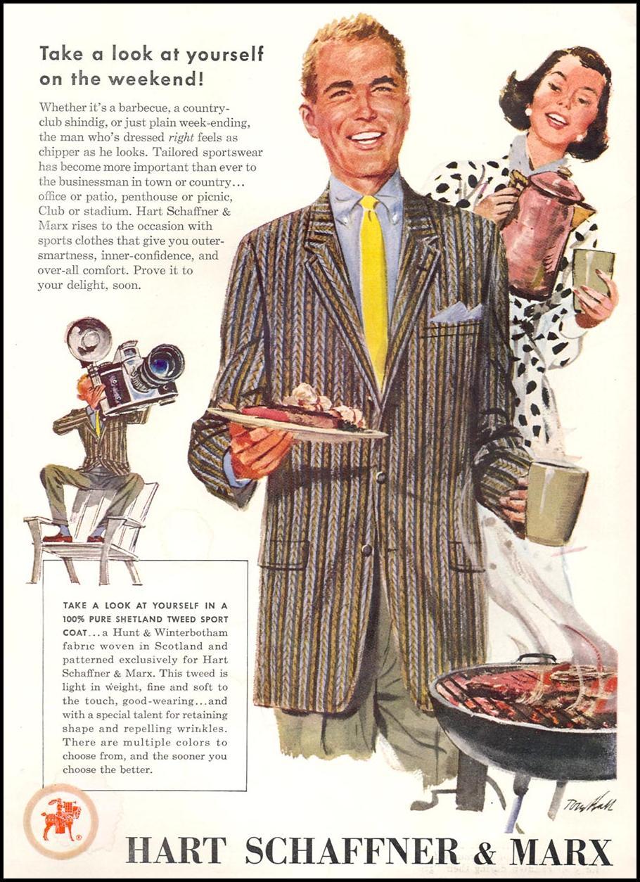 MEN'S SPORTSWEAR TIME 09/17/1956 INSIDE FRONT