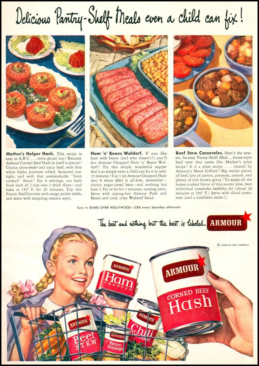 ARMOUR'S CANNED MEATS WOMAN'S DAY 09/01/1949 p. 9