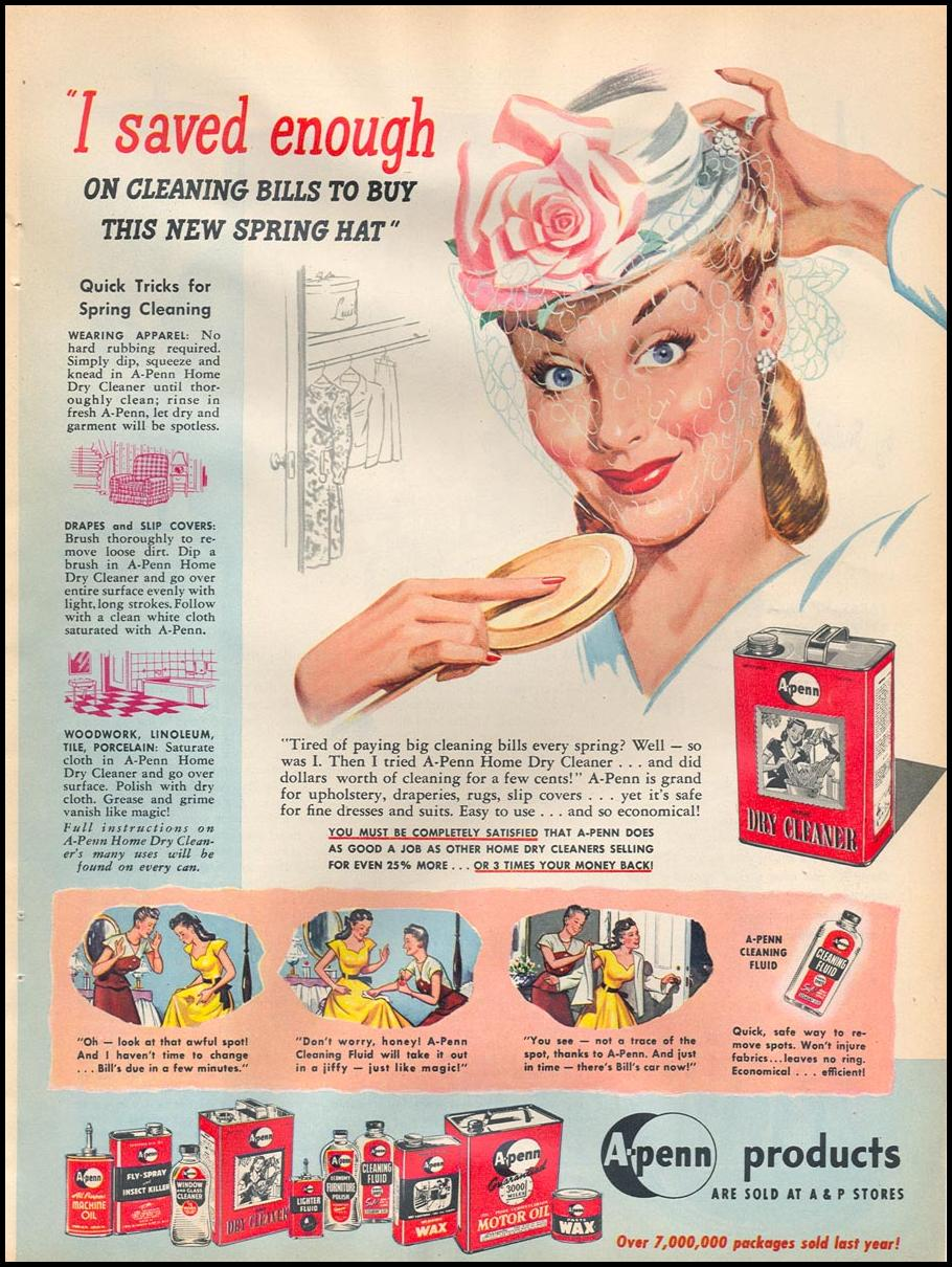 A-PENN PRODUCTS WOMAN'S DAY 05/01/1947 p. 21