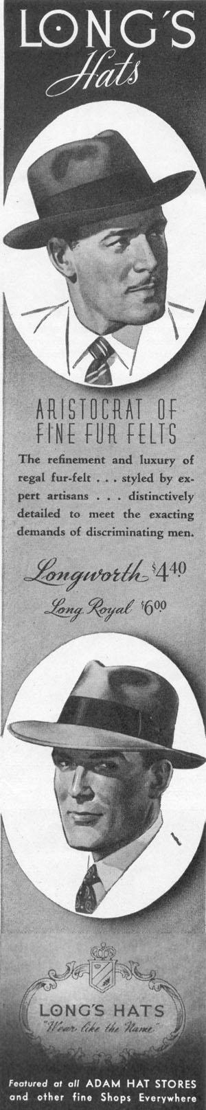 LONG`S HATS LIFE 11/02/1942 p. 99