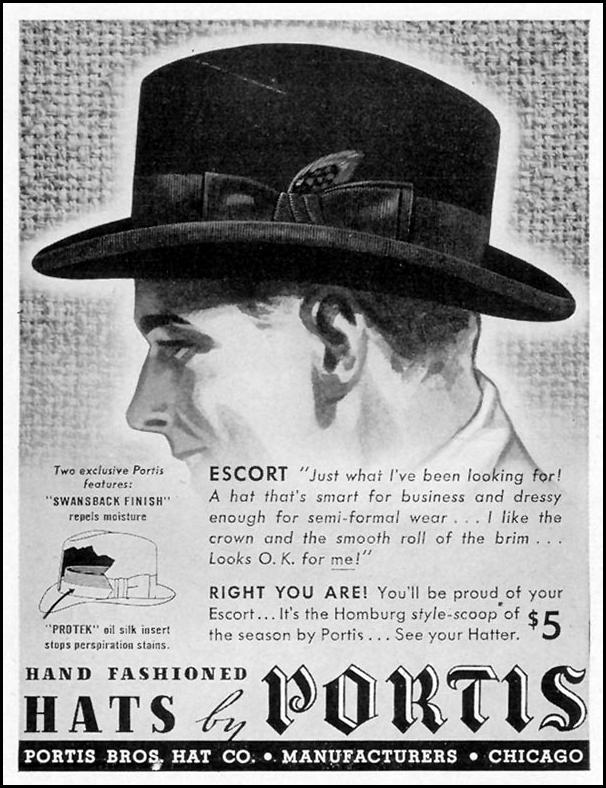 HAND FASHIONED HATS BY PORTIS LIFE 09/27/1937 p. 121
