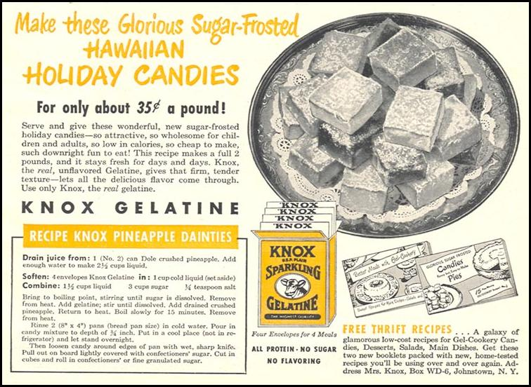 KNOX SPARKLING GELATINE WOMAN'S DAY 12/01/1948 p. 99
